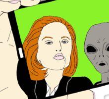 Alien Selfie Sticker