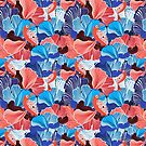 abstract pattern and bird lovers by Tanor