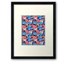abstract pattern and bird lovers Framed Print