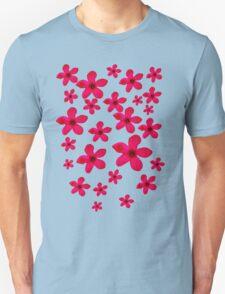 Beautiful pink exotic flower pattern T-Shirt