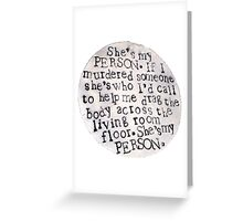Person Greeting Card