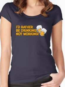 Rather Be Drinking Women's Fitted Scoop T-Shirt