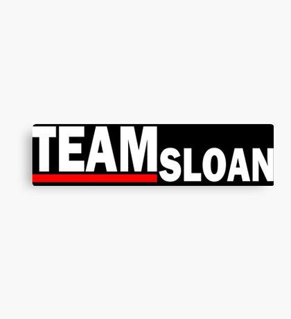 Team sloan - For dark Canvas Print