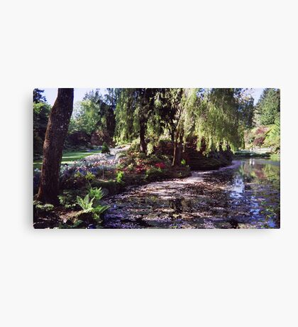 Butchart Gardens Lake Canvas Print