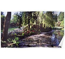 Butchart Gardens Lake Poster