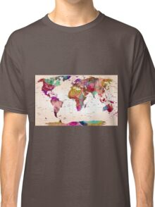 map of the world Classic T-Shirt