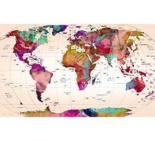 map of the world Photographic Print