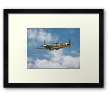 Spitfire in The Clouds Framed Print