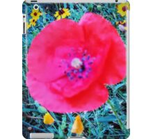 Front Yard Meadow, Red Poppy iPad Case/Skin