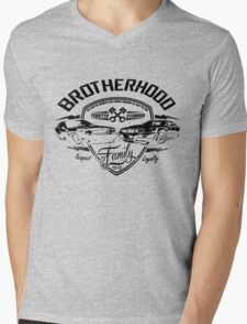 Brotherhood is Not Die - Grey Mens V-Neck T-Shirt