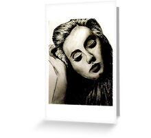 Graphic Adele  Greeting Card