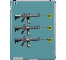 Gun with daisy  iPad Case/Skin