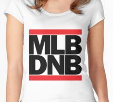 MLB DNB (Black on Light) Women's Fitted Scoop T-Shirt