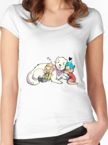 Markiplier, Wilford, and Chica The Puppy! Women's Fitted Scoop T-Shirt