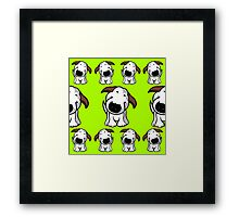 Bull Terrier Repeat Framed Print