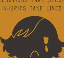 MSGV Warning Sign - Paz (hurt) Sticker
