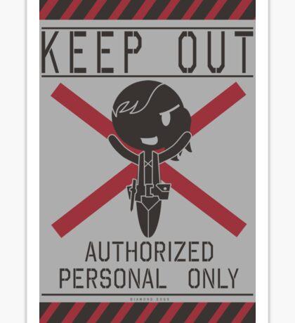 MGSV Warning Sign - Quiet Sticker