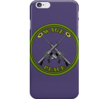 Wage peace logo iPhone Case/Skin