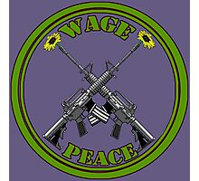 Wage peace logo Photographic Print