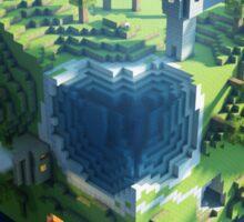 minecraft cubic world Sticker