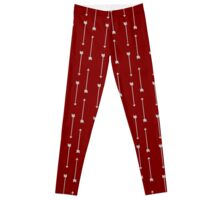 Red with Gray Arrows Leggings