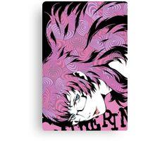 catherine kat pink heart Canvas Print
