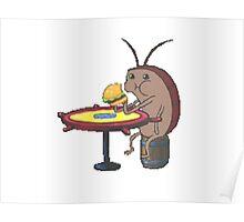 cockroach eating crabby patty - spongebob Poster