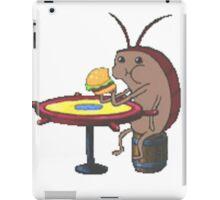 cockroach eating crabby patty - spongebob iPad Case/Skin