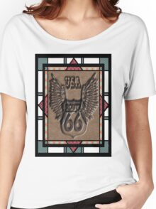 Route 66 vintage stylist  highway gifts Women's Relaxed Fit T-Shirt