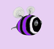 Bumble baby - purple by Stevie the floating artist