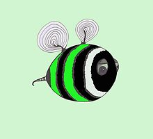 Bumble baby - green by Stevie the floating artist