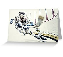 Old Time Hockey! Greeting Card