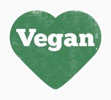 Vegan Heart - Distressed Print Baby Tee