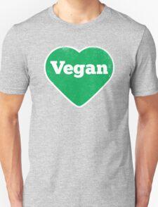 Vegan Heart - Distressed Print T-Shirt