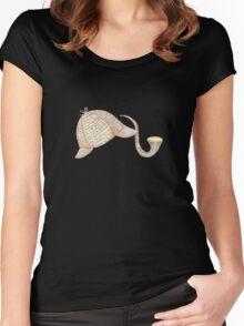 Sherlock Holmes Deer Stalker and Pipe Women's Fitted Scoop T-Shirt