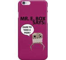 Mr. E Monster Box iPhone Case/Skin