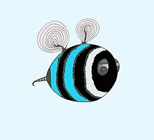 Bumble baby - light blue by Stevie the floating artist