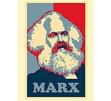 Karl Marx, obama poster Photographic Print