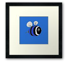 Baby bumble - dark blue Framed Print
