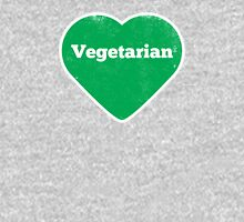 Vegetarian Heart - Distressed Unisex T-Shirt