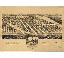 Bird's eye view Map of Asbury Park New Jersey (1881) Photographic Print