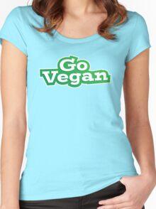 Go Vegan Logo Women's Fitted Scoop T-Shirt