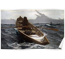 The Fog Warning (Halibut Fishing) by Winslow Homer (1885) Poster