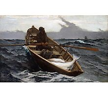 The Fog Warning (Halibut Fishing) by Winslow Homer (1885) Photographic Print