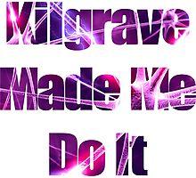 Kilgrave Made Me Do It - text white Photographic Print