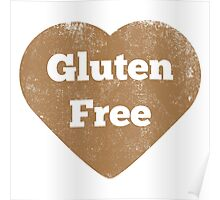 Gluten Free Heart - Distressed Poster