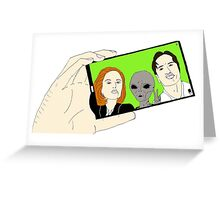 Alien Selfie Greeting Card