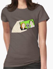 Alien Selfie Womens Fitted T-Shirt