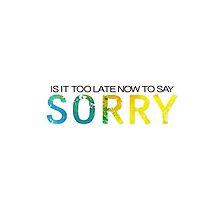 SORRY  by lyricaldesigns