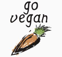 """Go Vegan"" Carrot  Kids Tee"